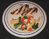 Penne with Spinach or Chard